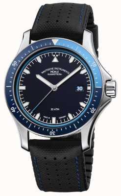 Muhle Glashutte Promare aller cadran bleu cuir noir / bracelet en caoutchouc M1-42-32-NB