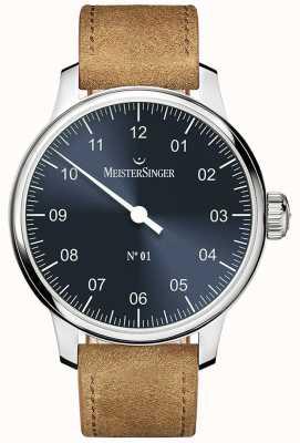 MeisterSinger N ° 1 40mm et bracelet en cognac suède sellita DM308