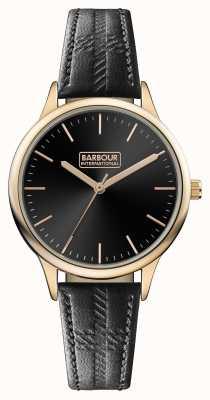 Barbour Bracelet noir en cuir noir embleton pour homme BB058RSBK
