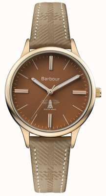 Barbour Bracelet cuir marron pour homme embleton marron BB058BRKH
