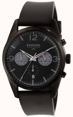 Kahuna Chronographe noir chronographe noir bracelet en caoutchouc noir KCS-0010G