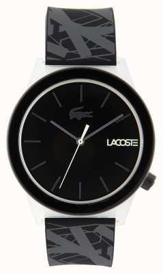 Lacoste Montre mouvement unisexe bracelet en caoutchouc noir et gris 2010937