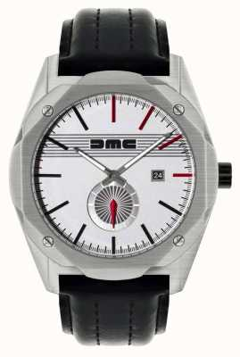 DeLorean Motor Company Watches Le rêve classique bracelet en cuir noir cadran argenté DMC-6