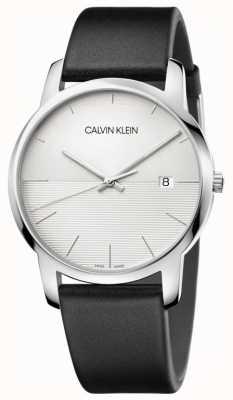 Calvin Klein Bracelet en cuir noir pour homme K2G2G1CD