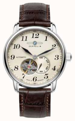 Zeppelin Lz 127 graf automatique bracelet en cuir marron 7666-5