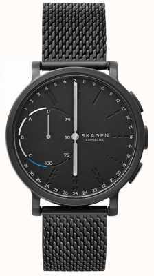 Skagen Hagen connecté montre intelligente bracelet en maille noire cadran noir SKT1109