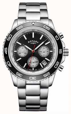 Rotary Montre chronographe pour homme tachymètre en acier inoxydable GB00410/04