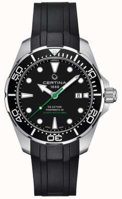 Certina Bracelet Caoutchouc Automatique DS Action Diver Powermatic 80 Homme C0324071705100