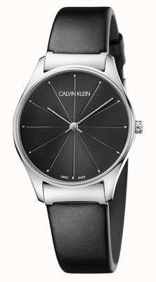 Calvin Klein Mesdames bracelet en cuir noir classique K4D221CY