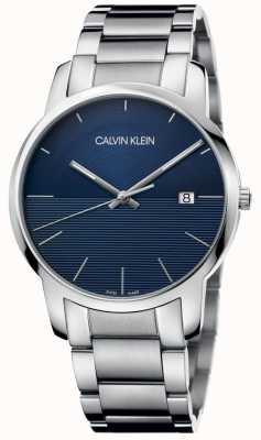 Calvin Klein City bracelet en acier inoxydable cadran bleu K2G2G14Q