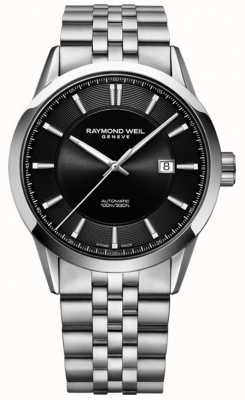 Raymond Weil Mens automatique freelancer bracelet en acier inoxydable 2731-ST-20001