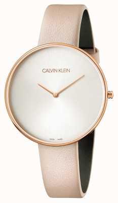 Calvin Klein Mesdames pleine lune en cuir rose K8Y236Z6
