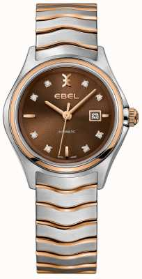 EBEL Chronographe automatique à diamants avec cadran noisette 1216265