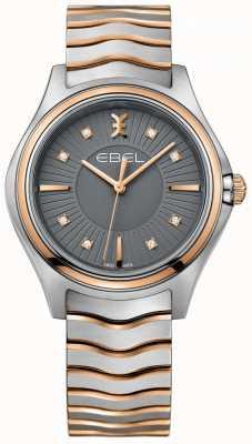 EBEL Bracelet à deux tons pour femme en forme de diamant avec des diamants 1216309