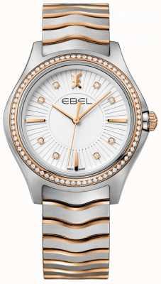 EBEL Bracelet deux tons pour femme serti de diamants et de vagues blanches 1216319