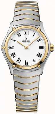 EBEL Femmes sport classique blanc cadran deux tons bracelet en acier inoxydable 1216387