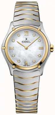 EBEL Femmes sport classique diamant nacre cadran deux tons 1216388