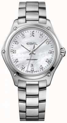 EBEL Découverte du diamant des femmes nacre en acier inoxydable 1216394