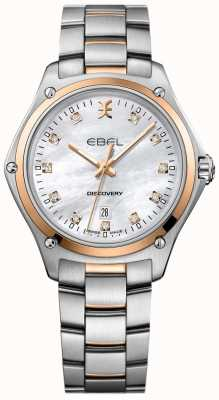 EBEL Découverte du diamant des femmes nacre en acier inoxydable 1216397