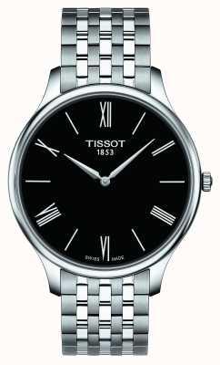 Tissot Bracelet en acier inoxydable de tradition masculine cadran noir T0634091105800