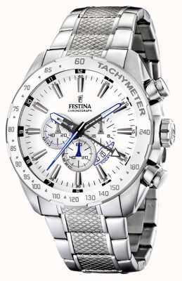 Festina Chronographe bracelet en acier inoxydable cadran blanc F16488/1