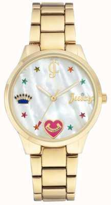 Juicy Couture (Sans boîte) Montre bracelet en acier doré pour femme JC-1016MPGB