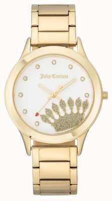 Juicy Couture Cadran et bracelet en or pour femme JC-1052WTGB