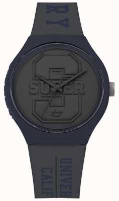 Superdry Bracelet urbain gris mat avec cadran gris mat SYG240EU