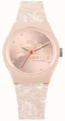 Superdry Cadran sunray rose pâle urbain feuille bracelet rose pâle SYL248C