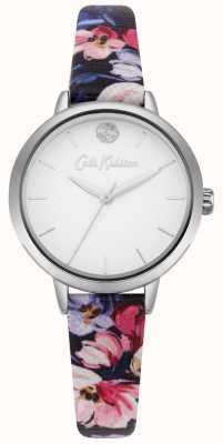 Cath Kidston Cadran blanc imprimé floral bleu marine CKL064U
