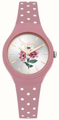 Cath Kidston Montre anémone rose en silicone avec bracelet en silicone CKL066P
