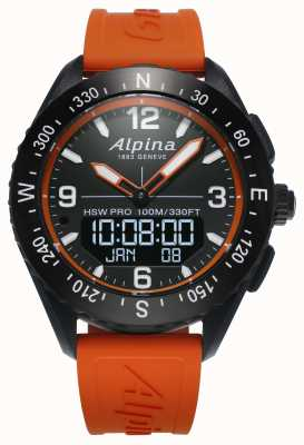 Alpina Bracelet en caoutchouc orange Alpinerx smartwatch AL-283LBO5AQ6