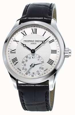 Frederique Constant Bracelet noir horloge smartwatch hommes FC-285MC5B6
