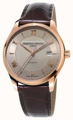 Frederique Constant Classics homme en cuir marron plaqué or FC-303MLG5B4