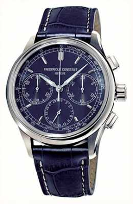 Frederique Constant Cadran bleu fabrication chronographe flyback homme FC-760N4H6