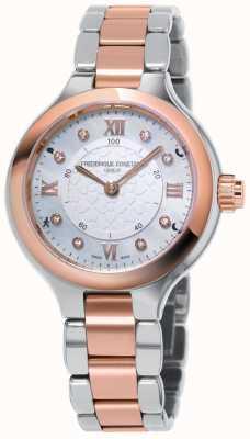 Frederique Constant Smartwatch Horloge féminine délice deux tons or rose FC-281WHD3ER2B