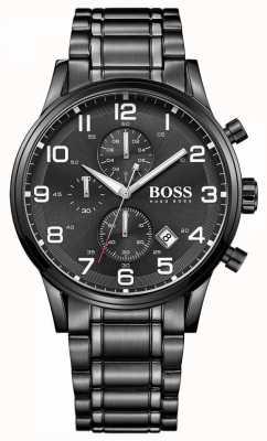 Hugo Boss Montre chronographe pour homme Aeroliner noire 1513180