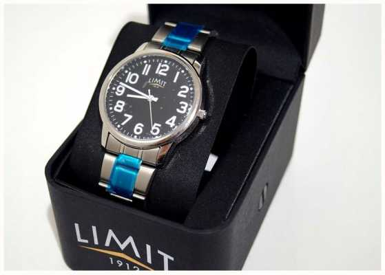 Limit | hommes | cadran noir | bracelet en acier inoxydable | 5648