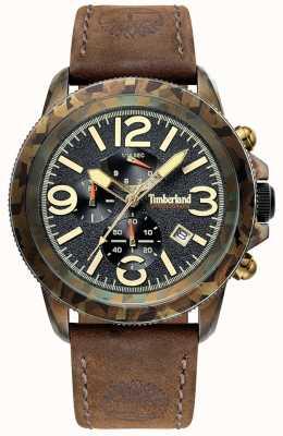 Timberland Bracelet cuir marron foncé pour homme Ashbrook TBL.15474JSGN/02