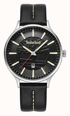 Timberland Cadran en cuir noir avec bracelet en cuir noir 15488JS/02