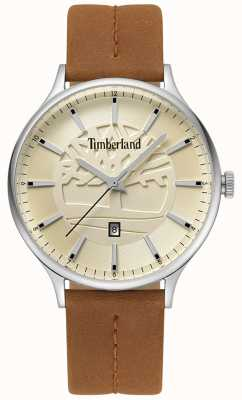 Timberland Bracelet en cuir marron beige pour homme TBL.15488JS/07