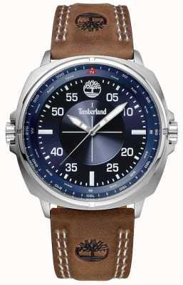 Timberland Williston bracelet en cuir marron cadran bleu TBL.15516JS/03