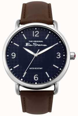 Ben Sherman Ben sherman mat bleu marine cadran brun foncé bracelet en acier argenté BS015BR