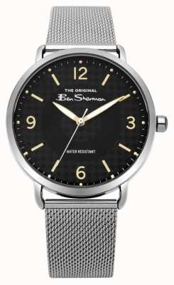 Ben Sherman Cadran noir mat en acier argenté BS015BSM