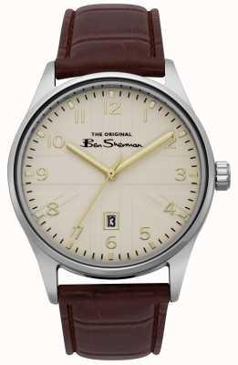 Ben Sherman Bracelet bicolore pour homme avec cadran blanc cassé, argent, or BS017BR