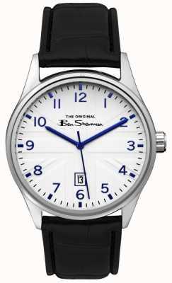 Ben Sherman Bracelet bicolore pour homme avec cadran bleu et argent BS017B