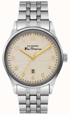 Ben Sherman Bracelet acier inoxydable cadran argenté pour homme BS017GSM