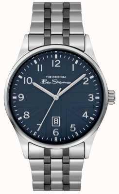 Ben Sherman Montre mens mat | cadran bleu | bracelet en acier inoxydable | BS017USM