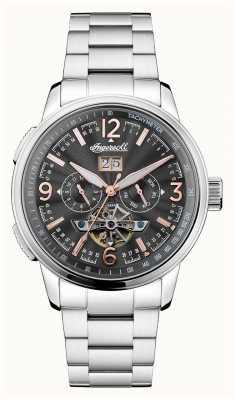 Ingersoll Mens le regent automatique chronographe noir en acier inoxydable I00304