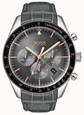 Hugo Boss Cadran gris homme trophée 1513628